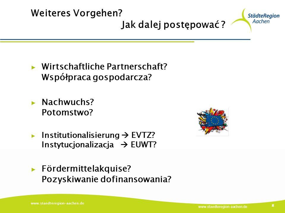 www.staedteregion-aachen.de Weiteres Vorgehen. Jak dalej postępować .