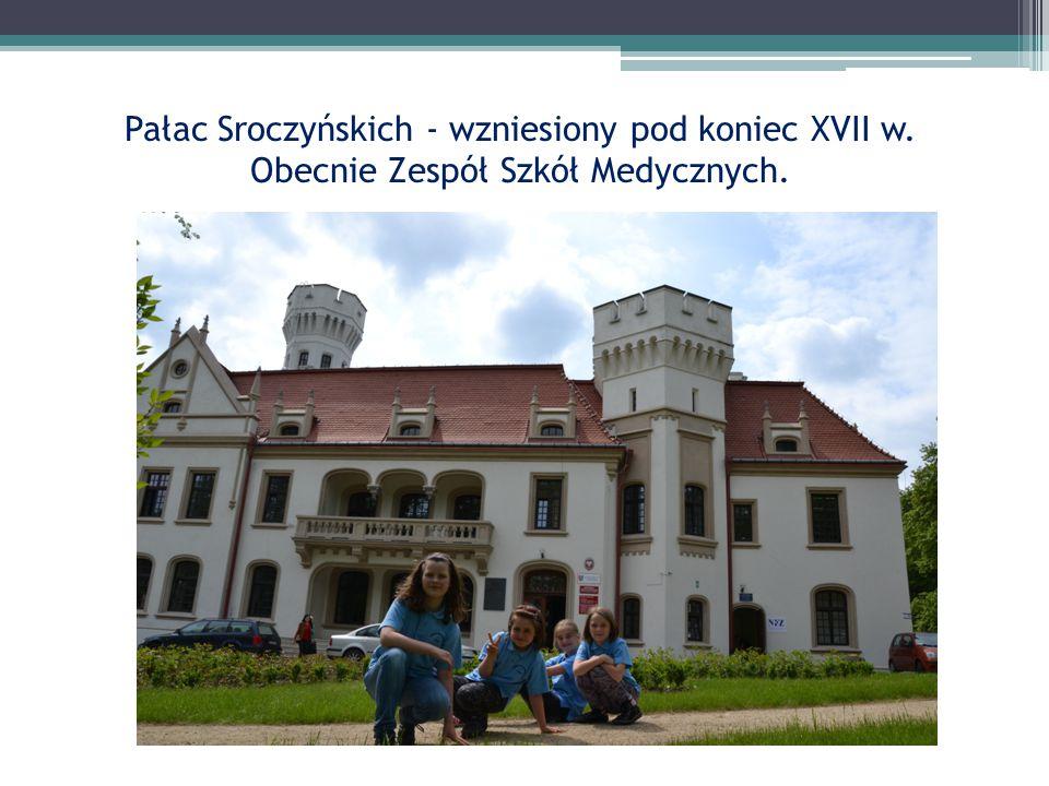 Pałac Sroczyńskich - wzniesiony pod koniec XVII w. Obecnie Zespół Szkół Medycznych.