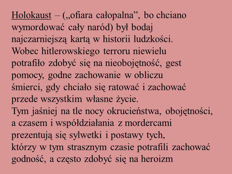 Janusz Korczak, właściwie Henryk Goldschmidt 1879-192 Lekarz, pedagog, pisarz,publicysta, Prekursor praw dziecka Poszedł na śmierć w obozie Zagłady w Treblince z wychowankami Żydowskiego Domu Sierot z Warszawy, choć mógł się uratować