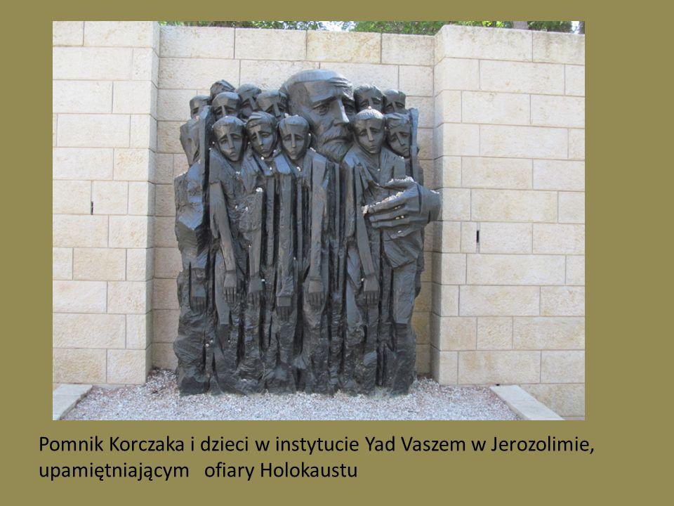 Pomnik Korczaka i dzieci w instytucie Yad Vaszem w Jerozolimie, upamiętniającym ofiary Holokaustu