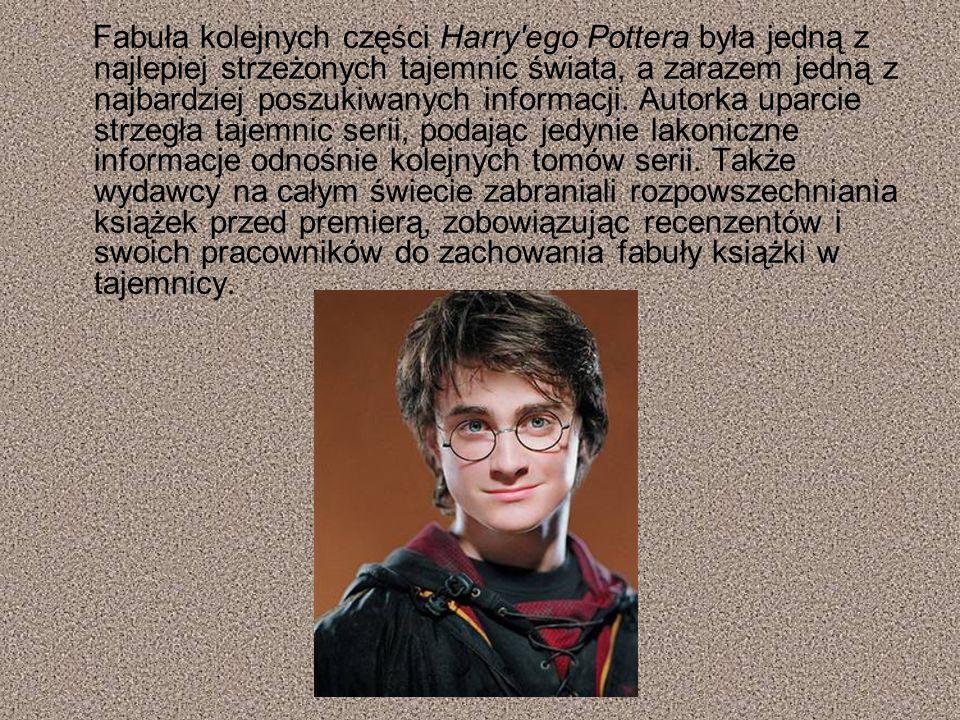 Fabuła kolejnych części Harry'ego Pottera była jedną z najlepiej strzeżonych tajemnic świata, a zarazem jedną z najbardziej poszukiwanych informacji.