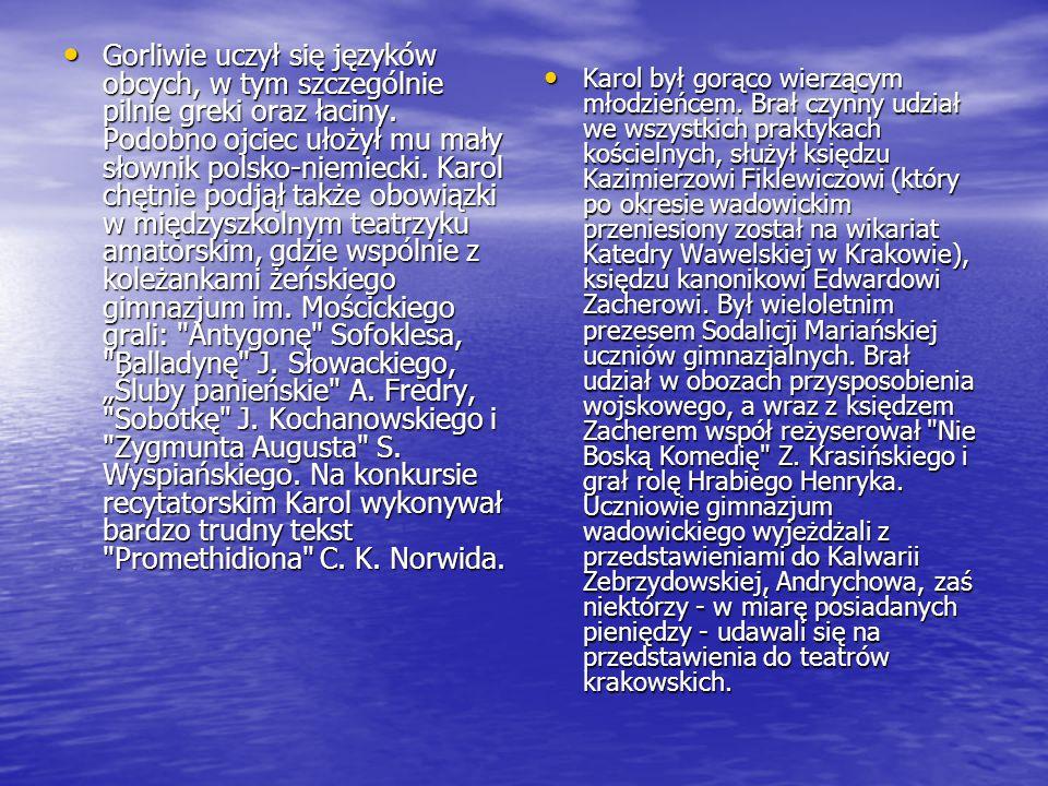 Gorliwie uczył się języków obcych, w tym szczególnie pilnie greki oraz łaciny.
