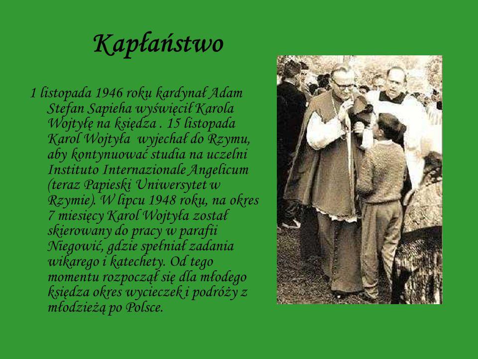 Biskup i kardynał W roku 1958 Karol Wojtyła został mianowany biskupem tytularnym Ombrii, a także biskupem pomocniczym Krakowa.