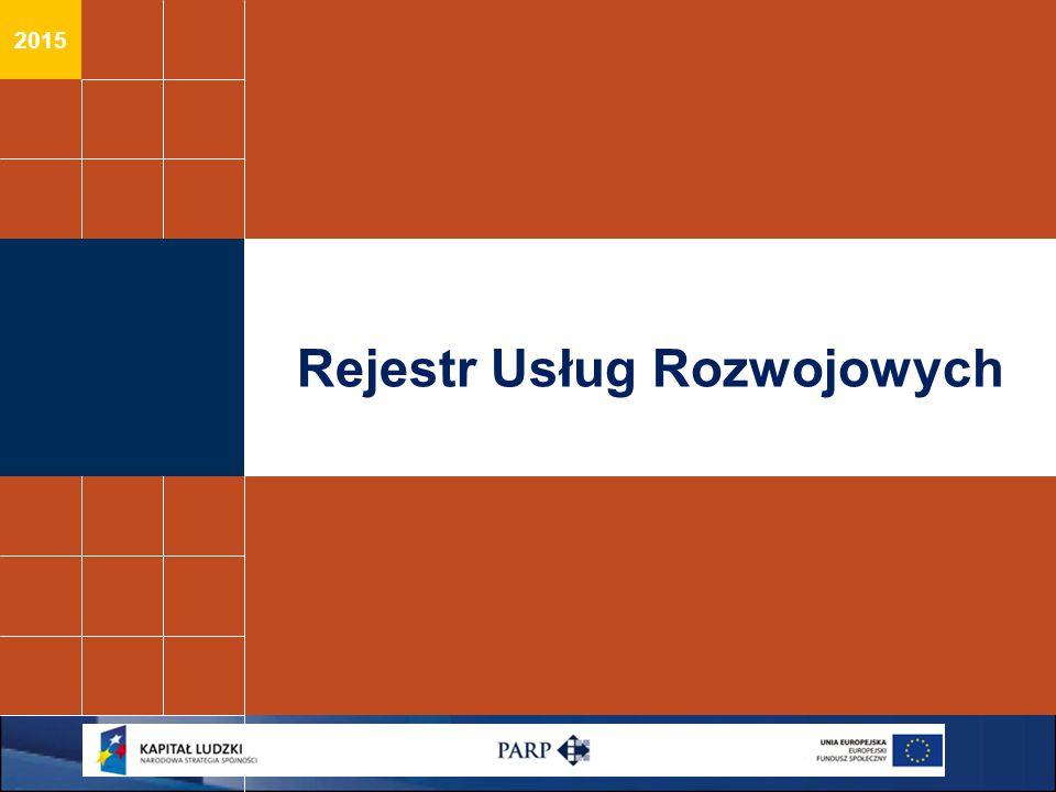 2015 Rejestr Usług Rozwojowych