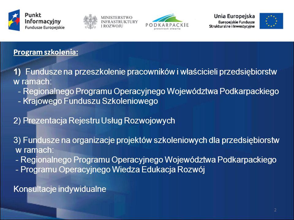 Regionalny Program Operacyjny Województwa Podkarpackiego na lata 2014 – 2020
