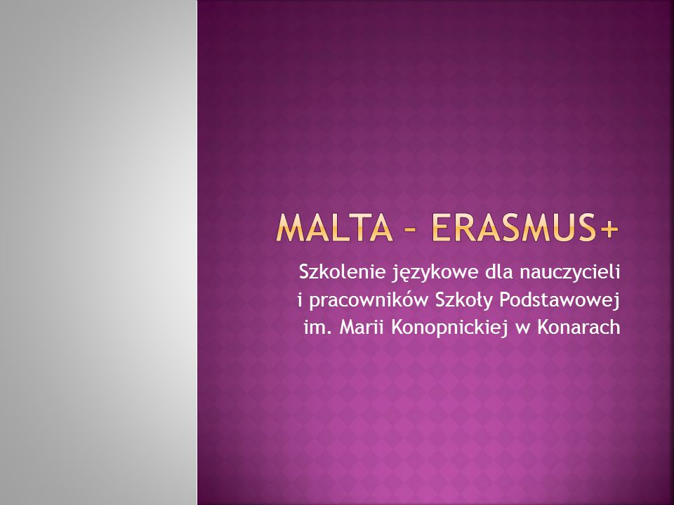 Szkolenie językowe dla nauczycieli i pracowników Szkoły Podstawowej im.