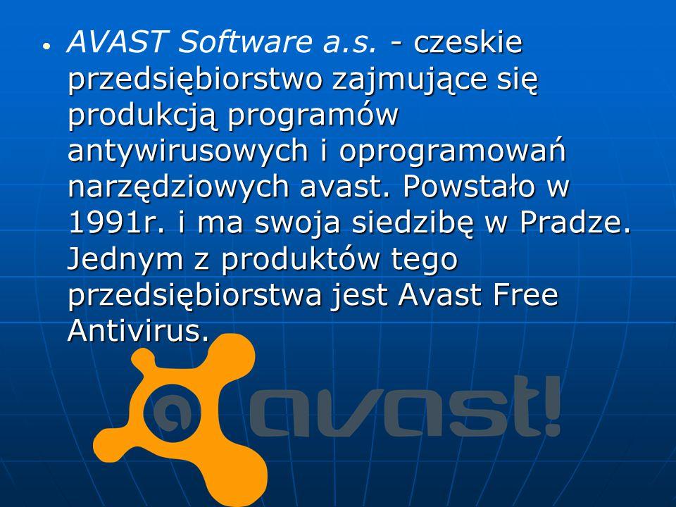 – czeska firma zajmująca się produkcją programów ochrony antywirusowej.
