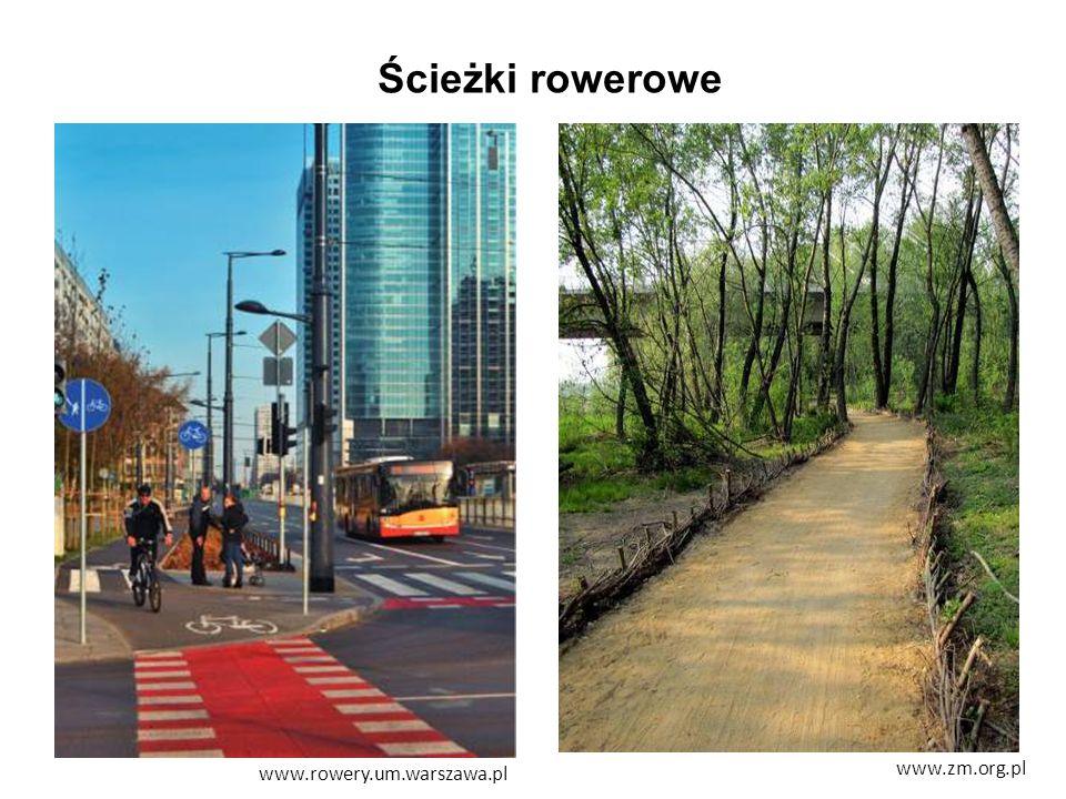 Ścieżki rowerowe www.rowery.um.warszawa.pl www.zm.org.pl