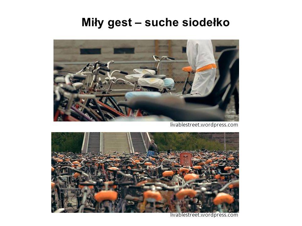 Miły gest – suche siodełko livablestreet.wordpress.com