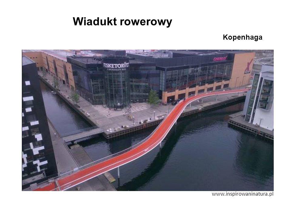 www.inspirowaninatura.pl Wiadukt rowerowy Kopenhaga