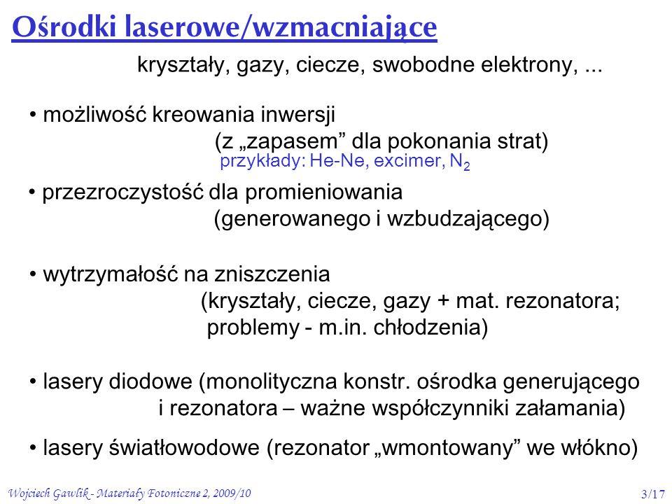 Wojciech Gawlik - Materiały Fotoniczne 2, 2009/1024/17 Spektroskopia transmisyjna/absorcyjna ħħ -ogranicz.
