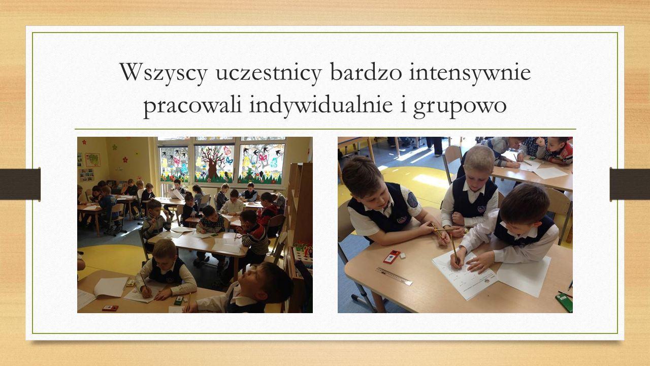 Wszyscy uczestnicy bardzo intensywnie pracowali indywidualnie i grupowo