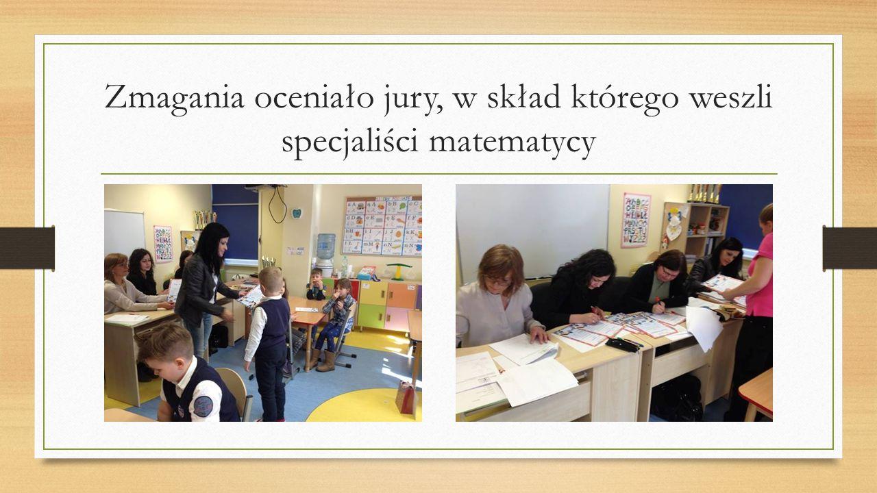 Zmagania oceniało jury, w skład którego weszli specjaliści matematycy