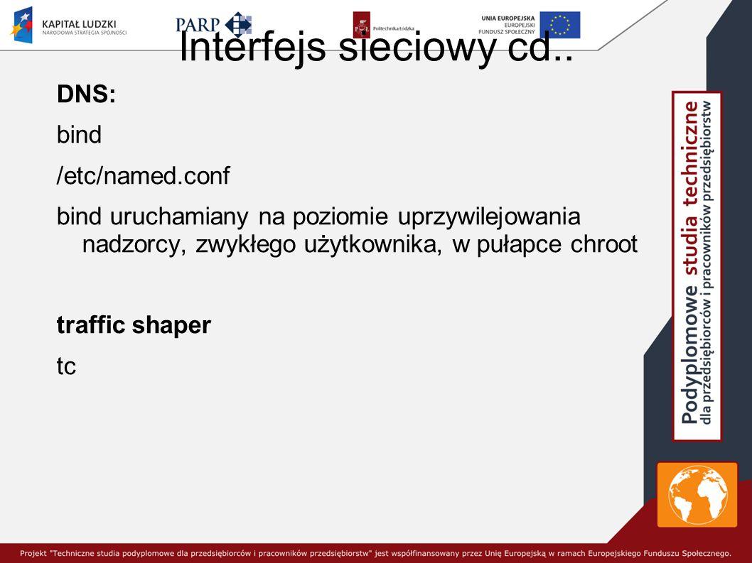Interfejs sieciowy cd..