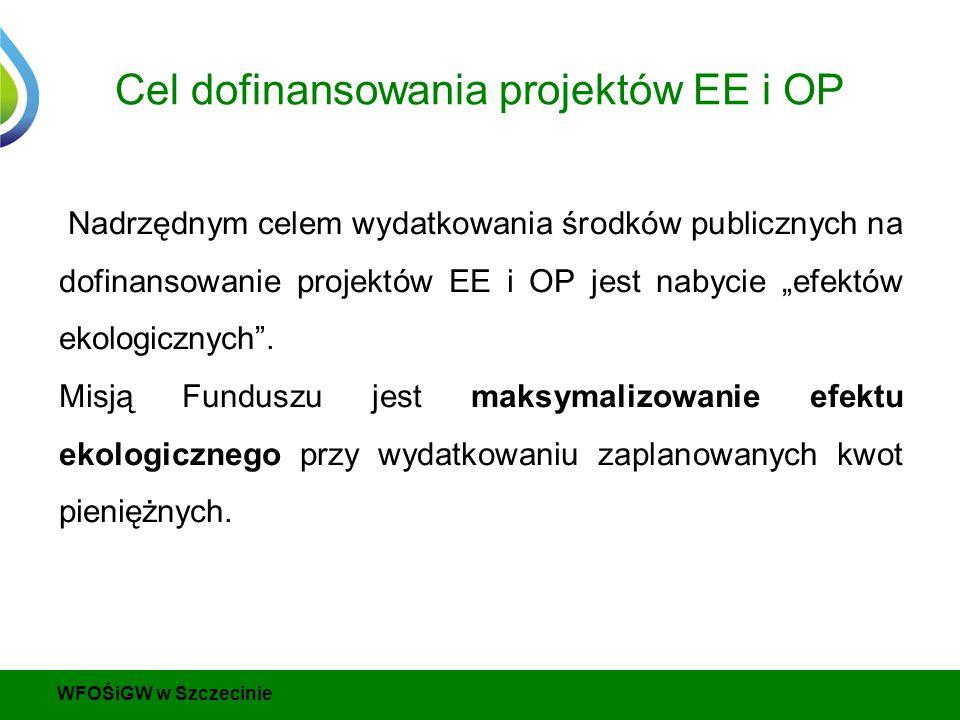 """Cel dofinansowania projektów EE i OP Nadrzędnym celem wydatkowania środków publicznych na dofinansowanie projektów EE i OP jest nabycie """"efektów ekologicznych ."""