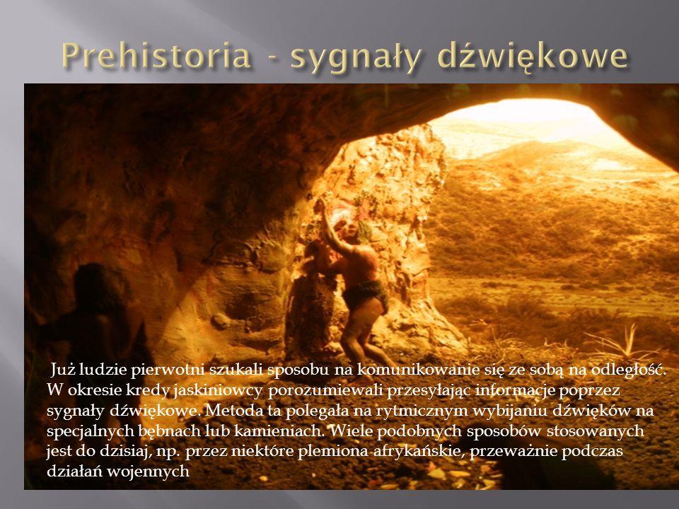 W XII wieku zaczęto porozumiewać się za pomocą ognisk i koców.