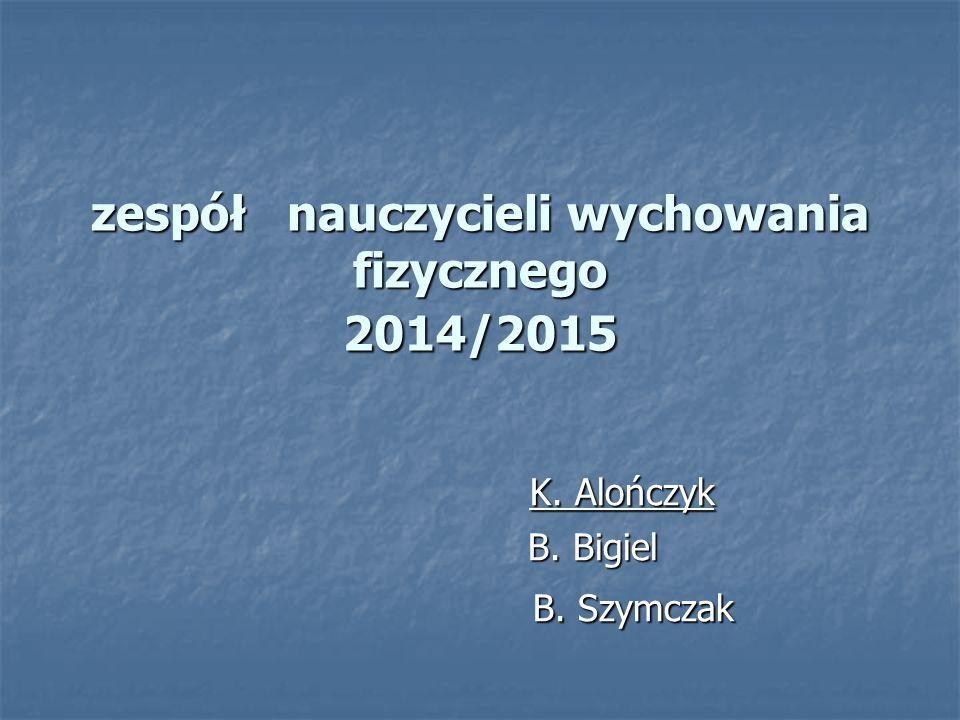 zespół nauczycieli wychowania fizycznego 2014/2015 K.