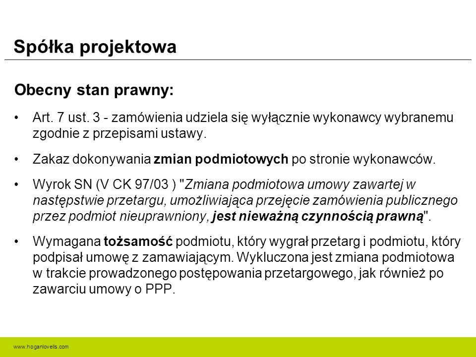 www.hoganlovells.com Kryteria oceny ofert Propozycja zmiany: Zmiana art.
