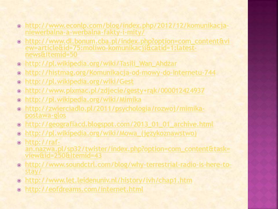  http://www.econlp.com/blog/index.php/2012/12/komunikacja- niewerbalna-a-werbalna-fakty-i-mity/ http://www.econlp.com/blog/index.php/2012/12/komunika