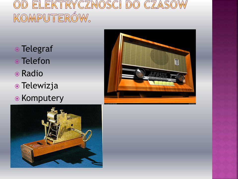  Telegraf  Telefon  Radio  Telewizja  Komputery