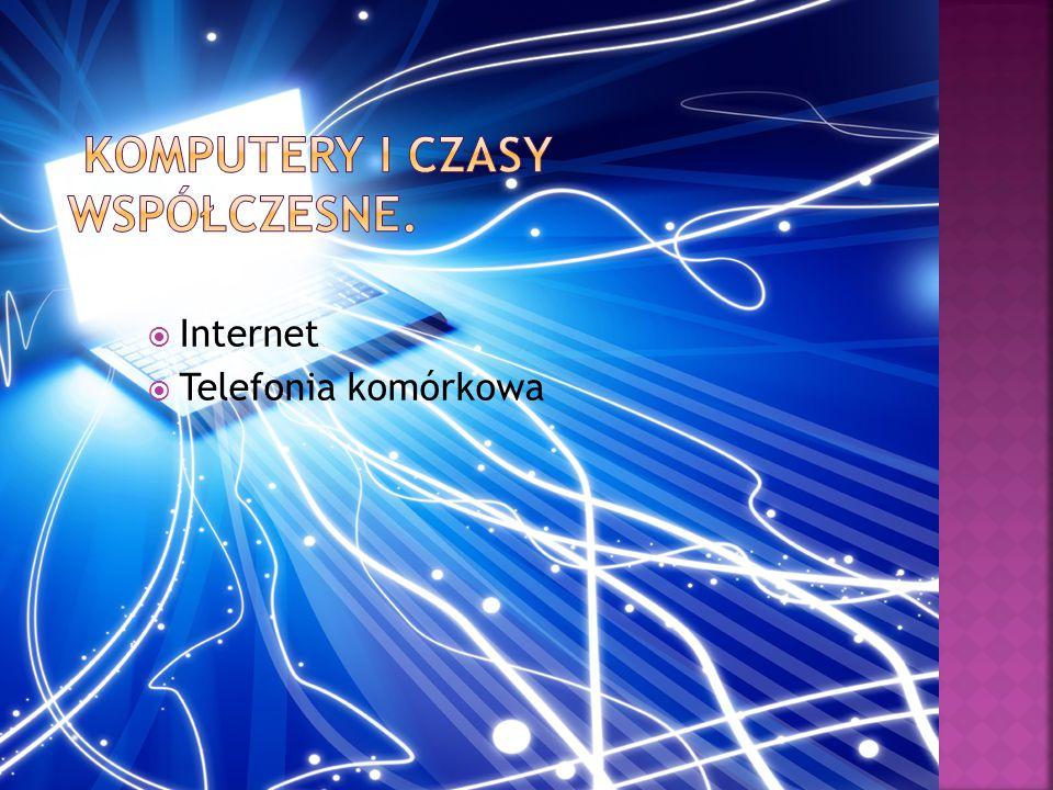  Internet  Telefonia komórkowa
