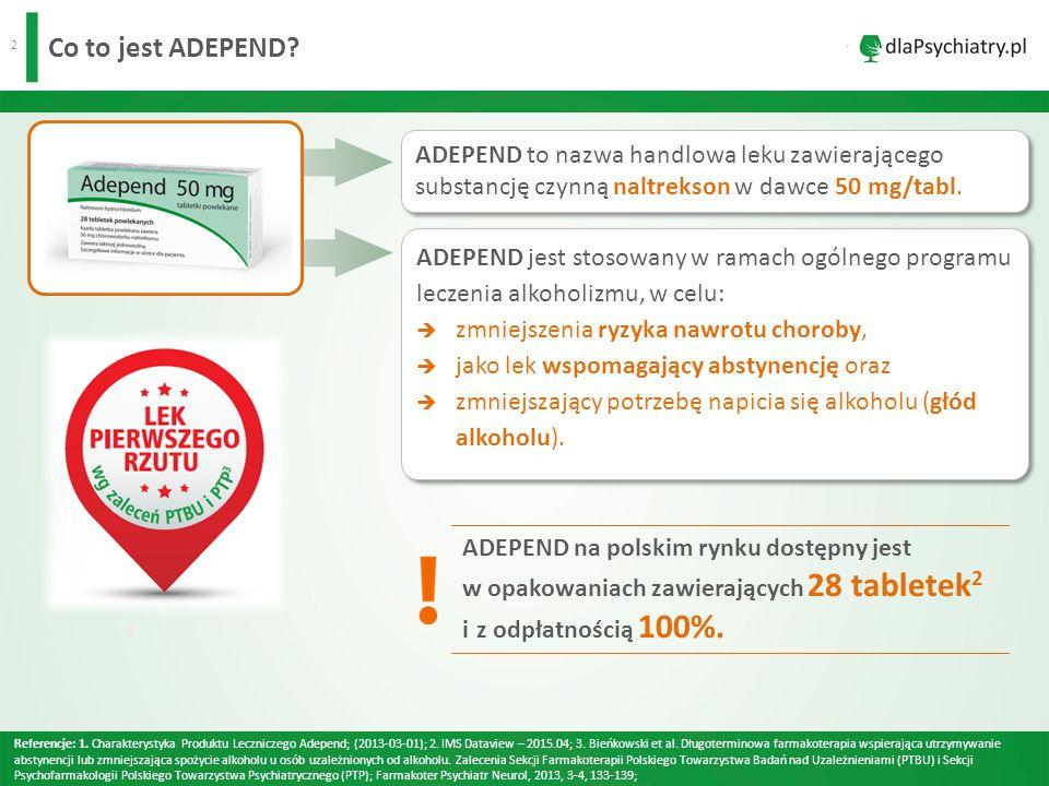 3 Jaki jest mechanizm działania leku ADEPEND.