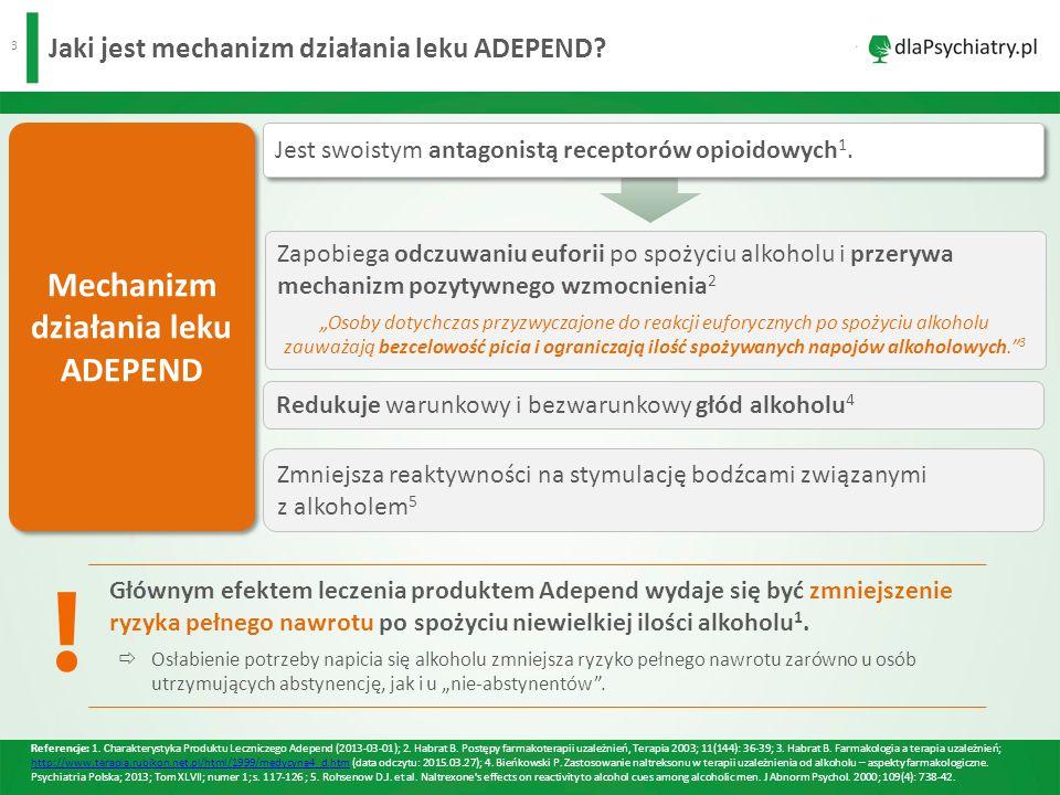 4 Jak dawkować lek ADEPEND.●Dawkowanie 1 :  Dorośli: p.o.