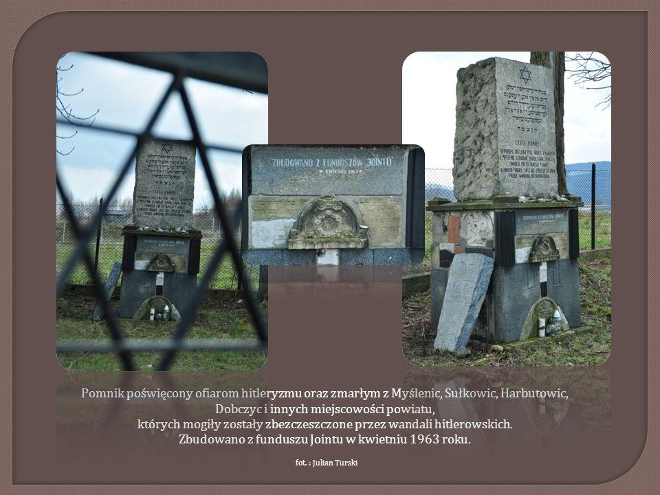 Pomnik poświęcony ofiarom hitleryzmu oraz zmarłym z Myślenic, Sułkowic, Harbutowic, Dobczyc i innych miejscowości powiatu, których mogiły zostały zbez