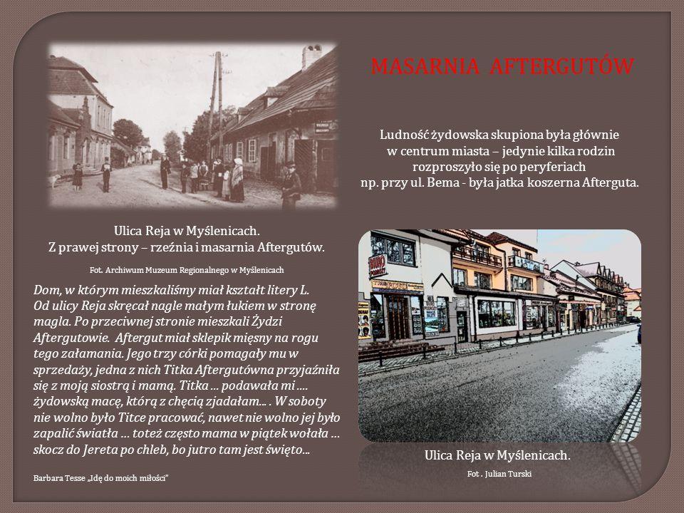 Ludność żydowska skupiona była głównie w centrum miasta – jedynie kilka rodzin rozproszyło się po peryferiach np. przy ul. Bema - była jatka koszerna
