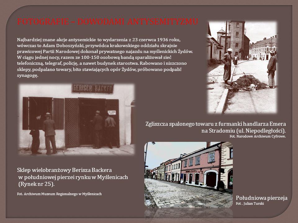 Najbardziej znane akcje antysemickie to wydarzenia z 23 czerwca 1936 roku, wówczas to Adam Doboszyński, przywódca krakowskiego oddziału skrajnie prawi