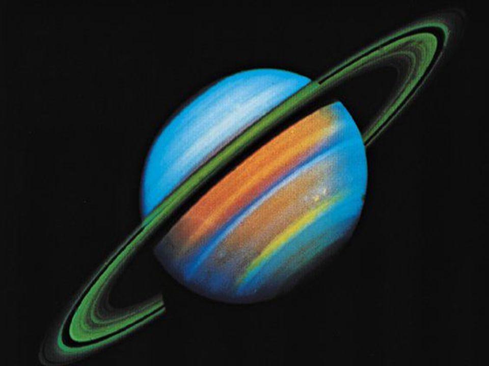 Saturn: to druga pod względem wielkości z gazowych olbrzymów (śr.: 120 500 km). Saturn krąży ze średnią odległości od Słońca wynoszącą: 1mld 427 mln k