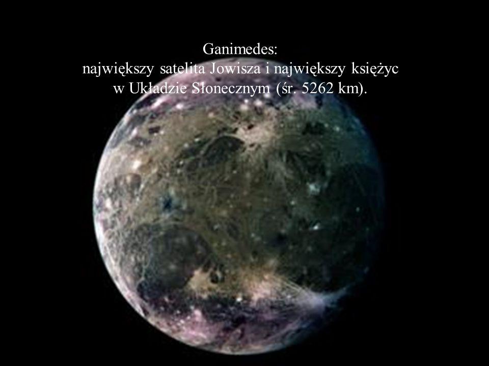 Jowisz: Jowisz to największa i najmasywniejsza planeta Układu Słonecznego. Jego masa jest 2,5 raza większa od masy wszystkich pozostałych planet razem
