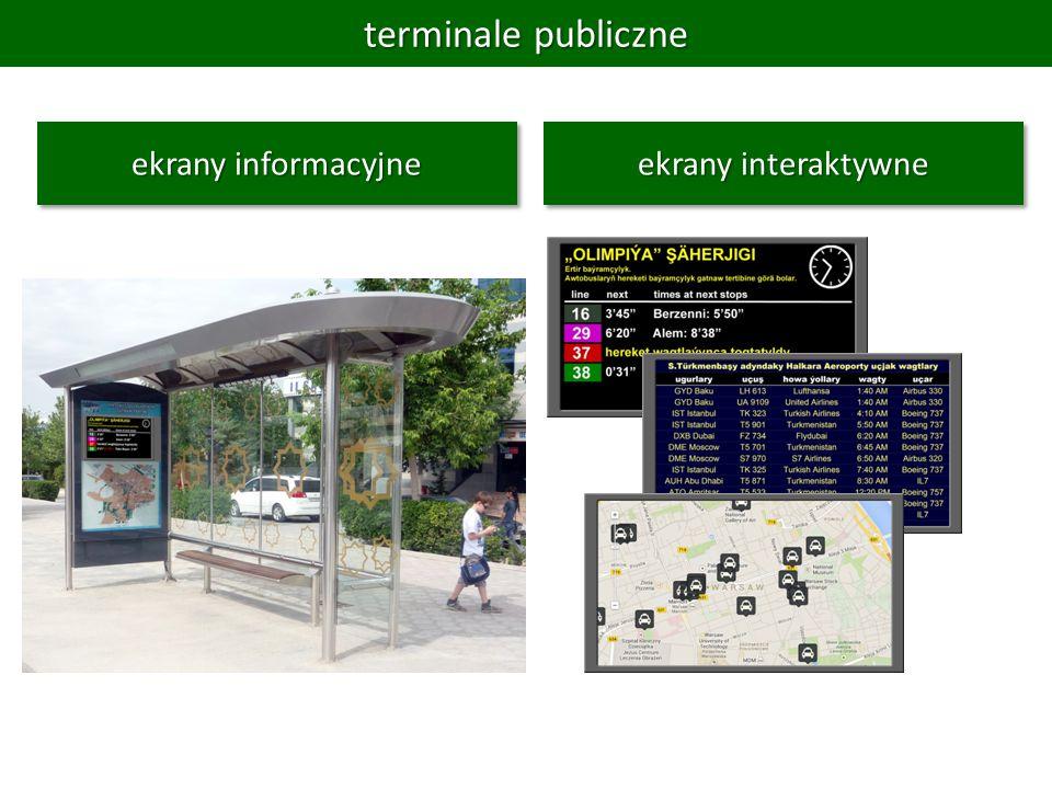 terminale publiczne ekrany interaktywne ekrany informacyjne