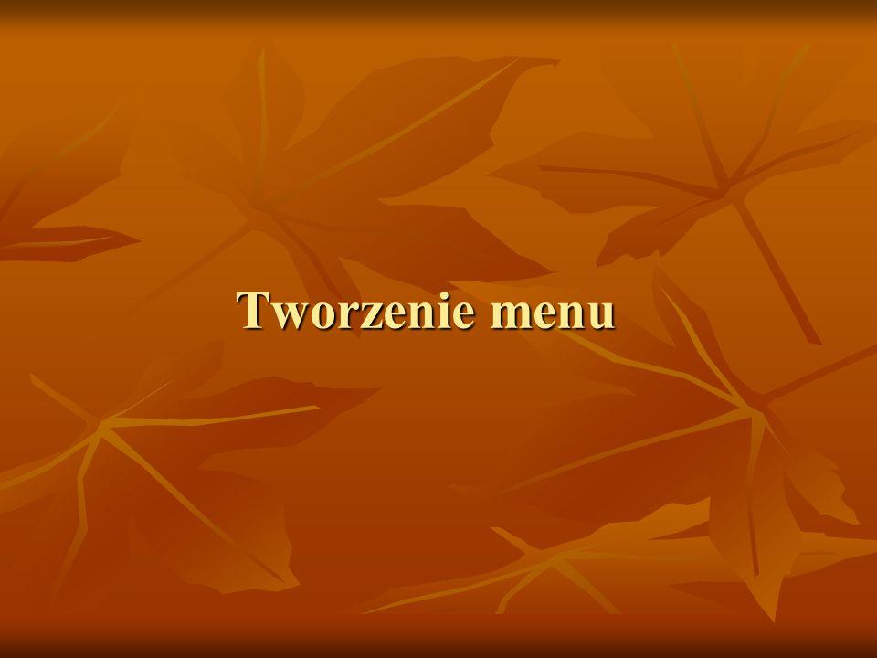 Tworzenie menu
