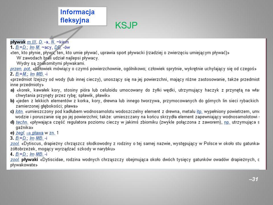 –31 KSJP Informacja fleksyjna