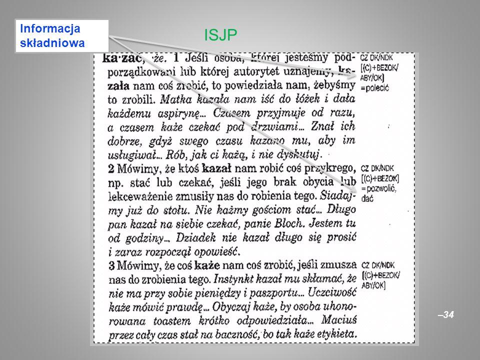 –34 ISJP Informacja składniowa
