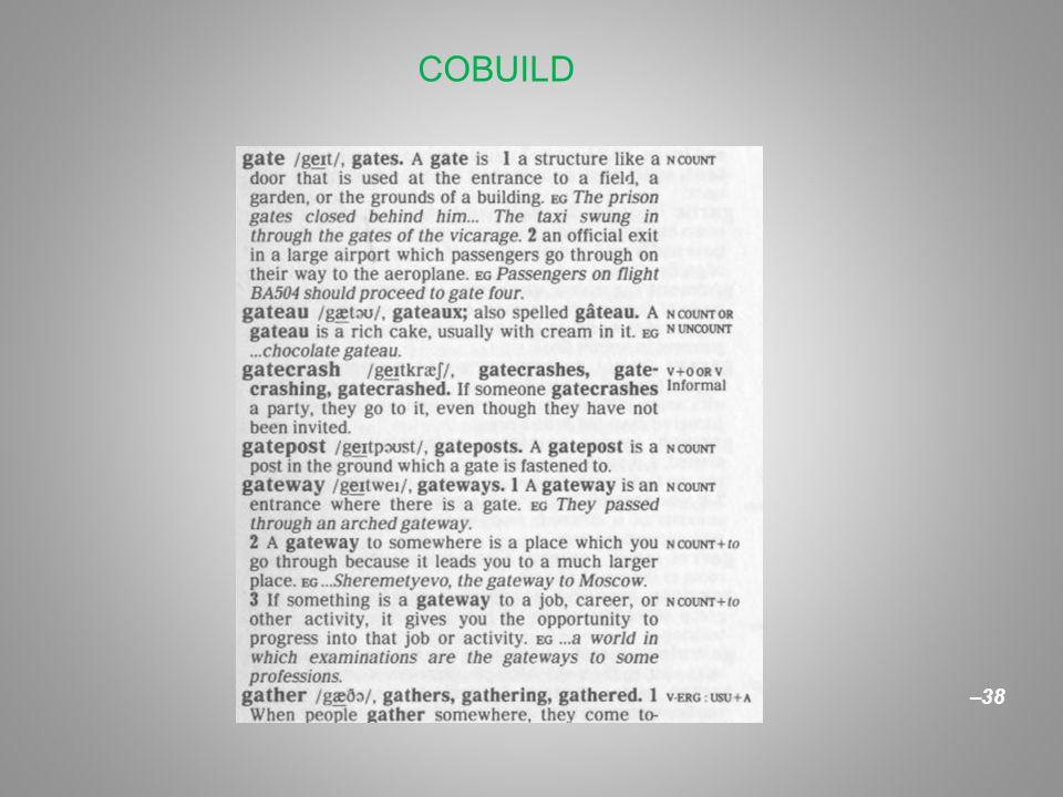 –38 COBUILD