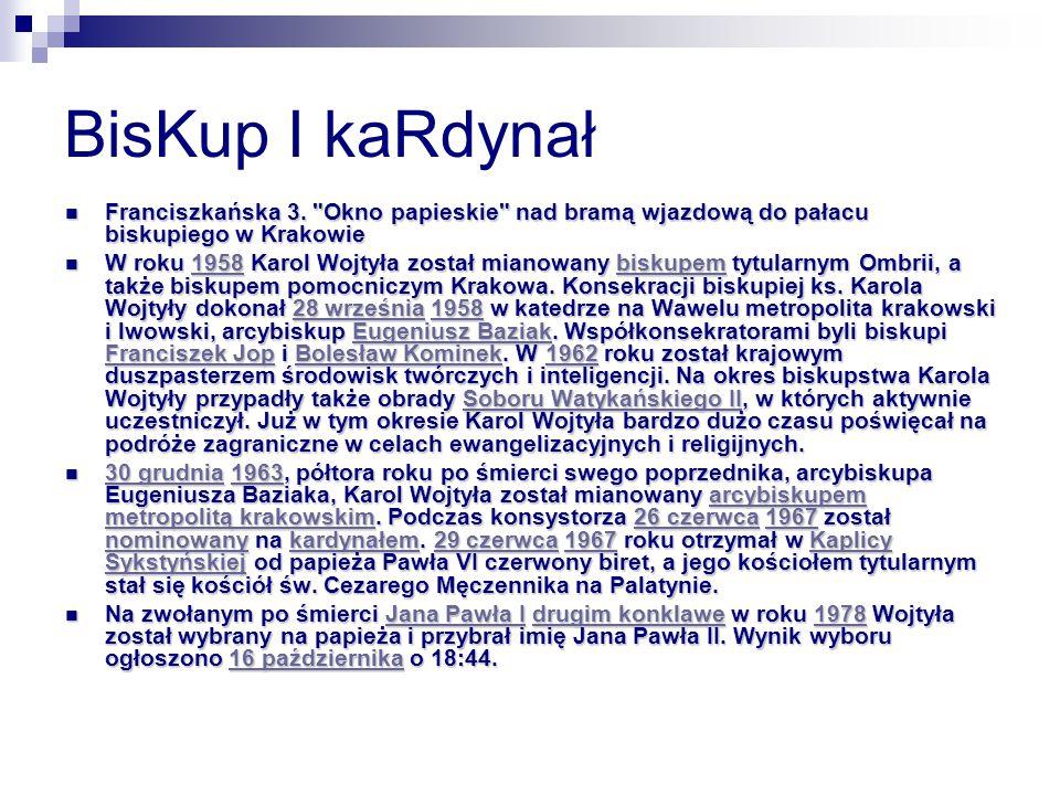 BisKup I kaRdynał Franciszkańska 3.