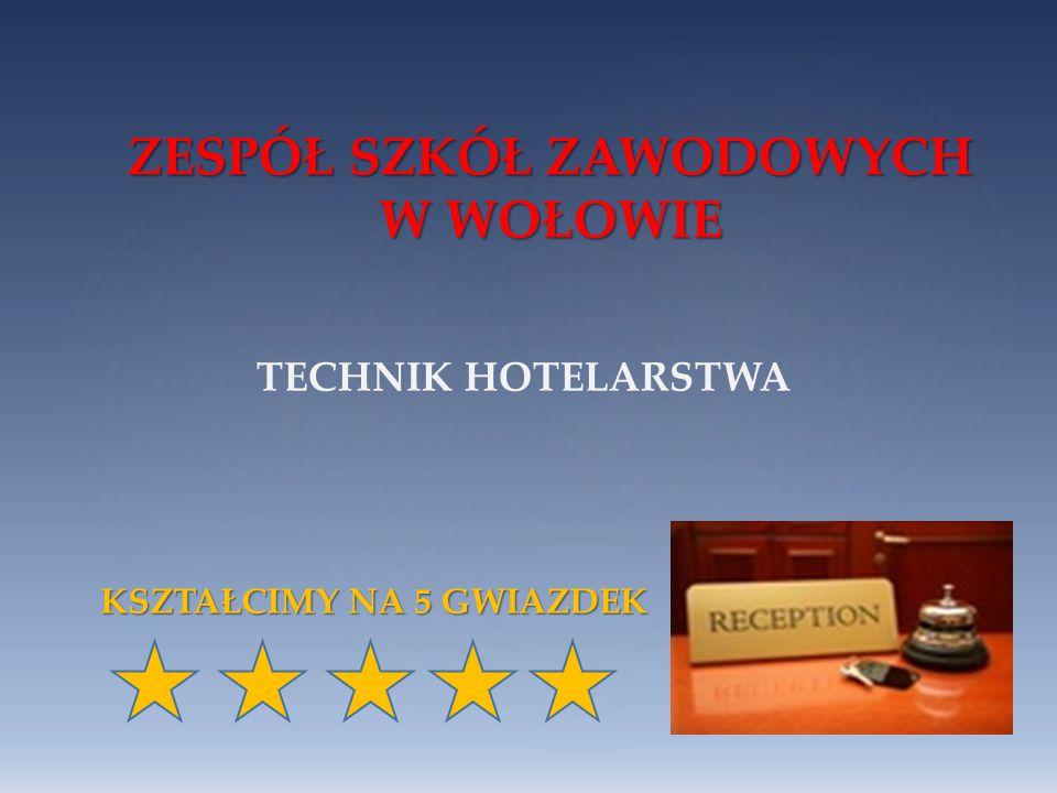 ZESPÓŁ SZKÓŁ ZAWODOWYCH W WOŁOWIE technik hotelarstwa ZAPRASZAMY !!.