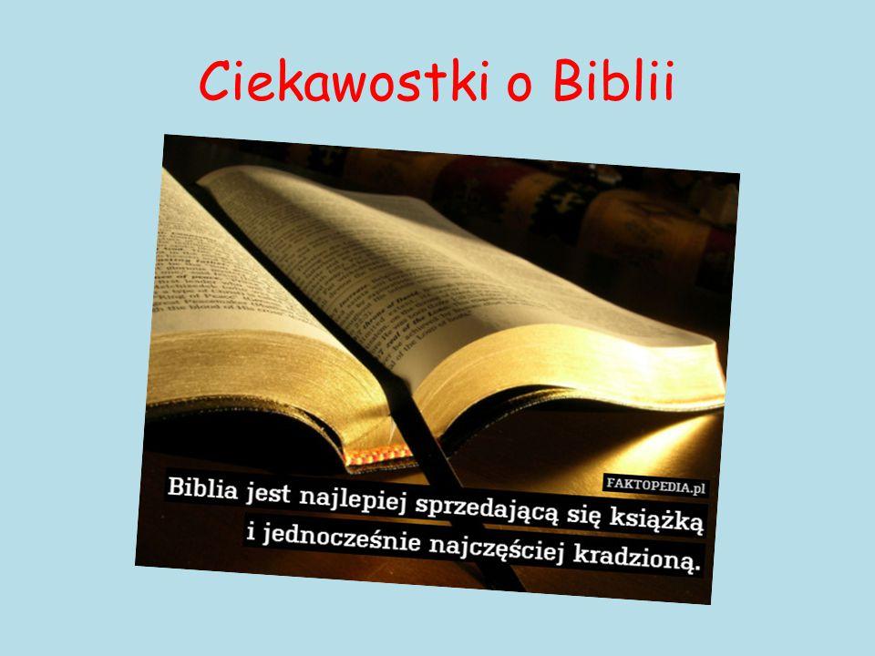 Ciekawostki o Biblii