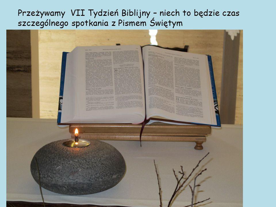Przeżywamy VII Tydzień Biblijny – niech to będzie czas szczególnego spotkania z Pismem Świętym