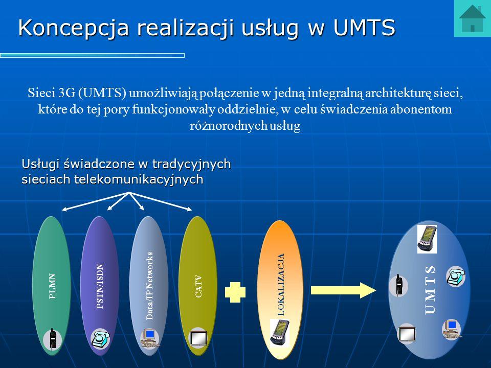 Sieci 3G (UMTS) umożliwiają połączenie w jedną integralną architekturę sieci, które do tej pory funkcjonowały oddzielnie, w celu świadczenia abonentom