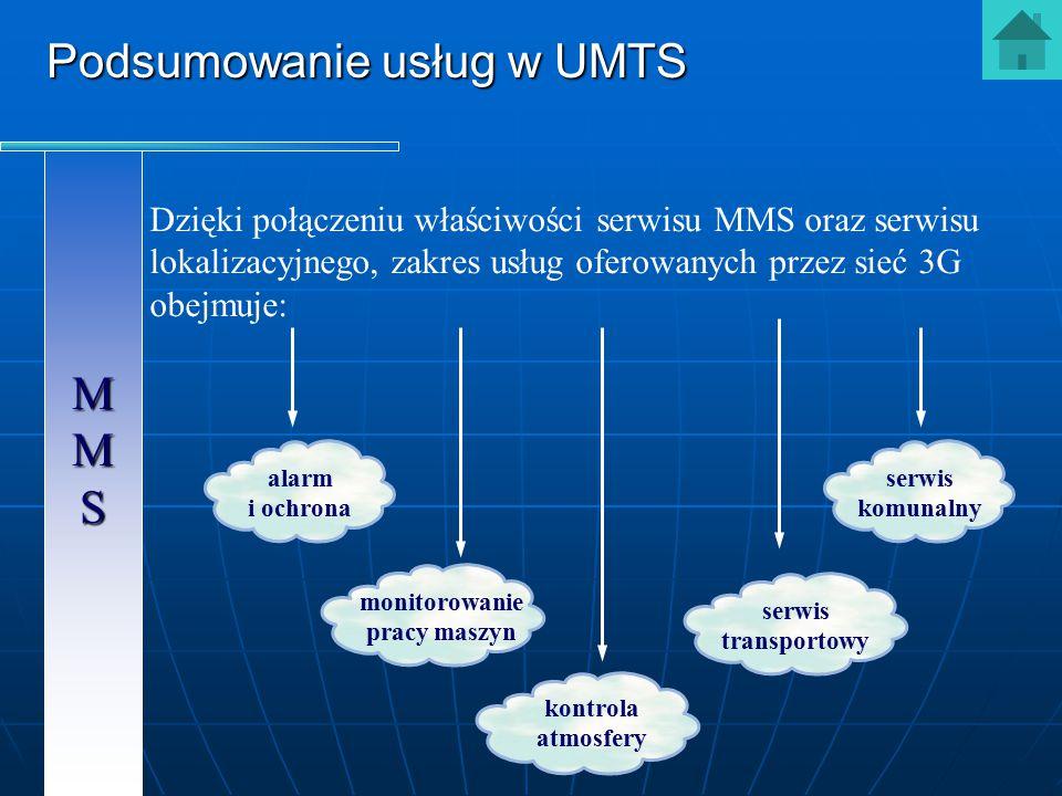 MMS MMMMSS MMMMSS Dzięki połączeniu właściwości serwisu MMS oraz serwisu lokalizacyjnego, zakres usług oferowanych przez sieć 3G obejmuje: alarm i och
