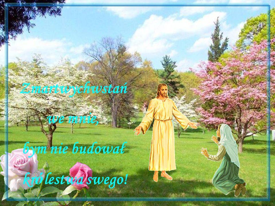 ,,Alleluja dziś śpiewajmy, Bogu cześć i chwałę dajmy, Bo zmartwychwstał nasz Zbawiciel, Tego świata Odkupiciel Zdrowia, szczęścia, pokoju, radości, Niech Zmartwychwstały Chrystus zamieszka w każdym domu, To są najszczersze życzenia.