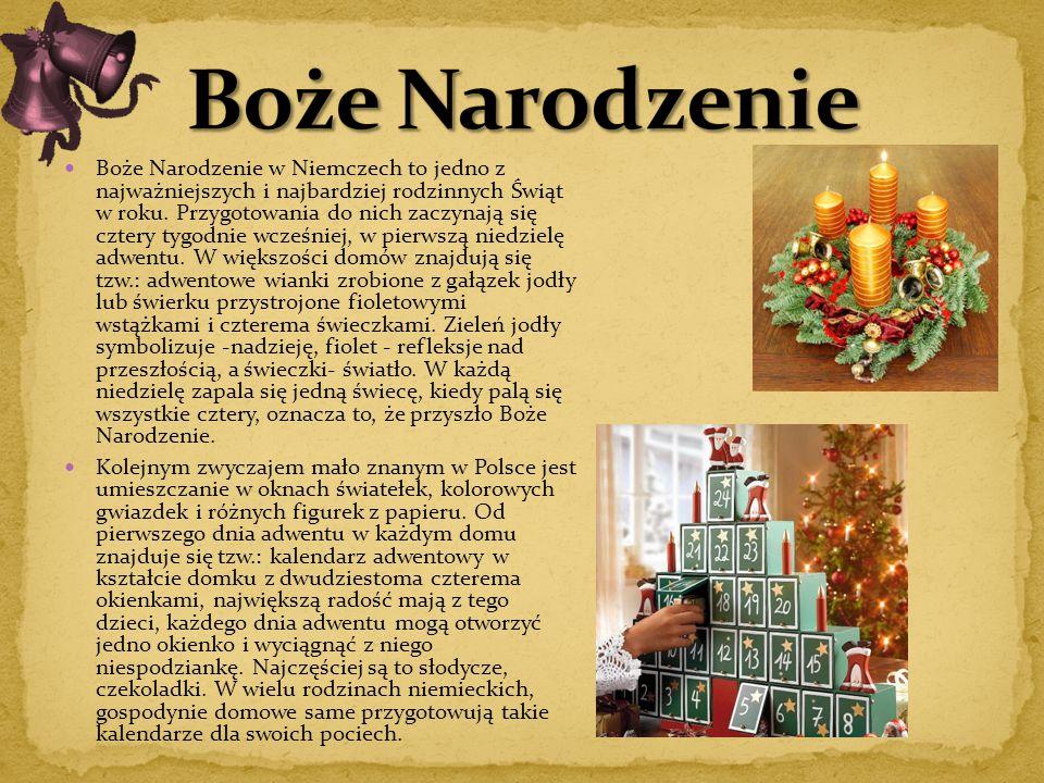 Boże Narodzenie w Niemczech to jedno z najważniejszych i najbardziej rodzinnych Świąt w roku. Przygotowania do nich zaczynają się cztery tygodnie wcze