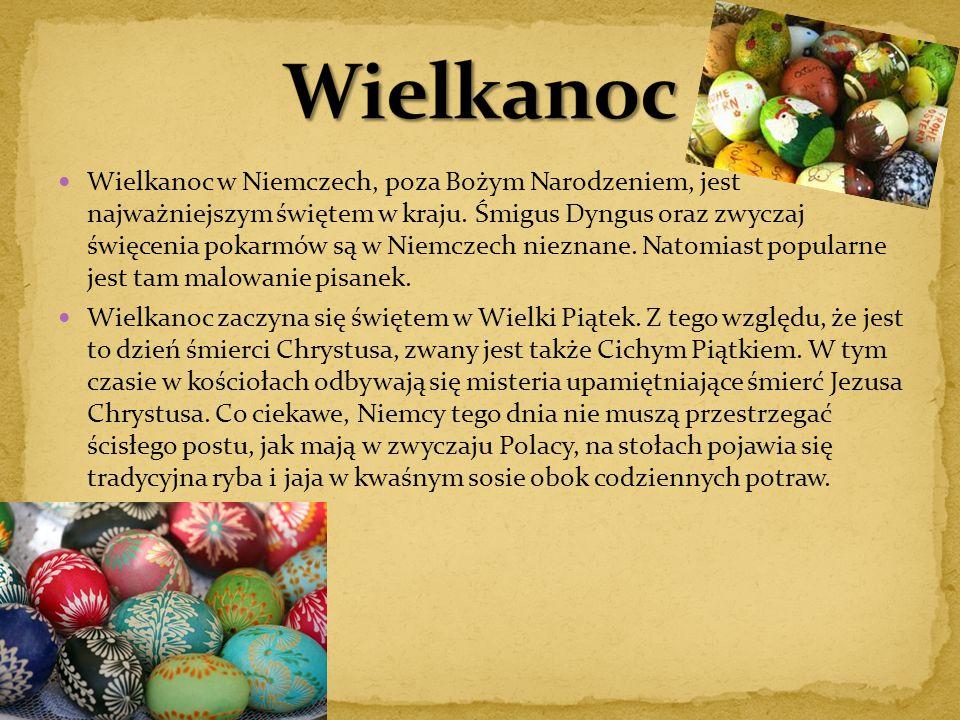 Wielkanoc w Niemczech, poza Bożym Narodzeniem, jest najważniejszym świętem w kraju. Śmigus Dyngus oraz zwyczaj święcenia pokarmów są w Niemczech niezn