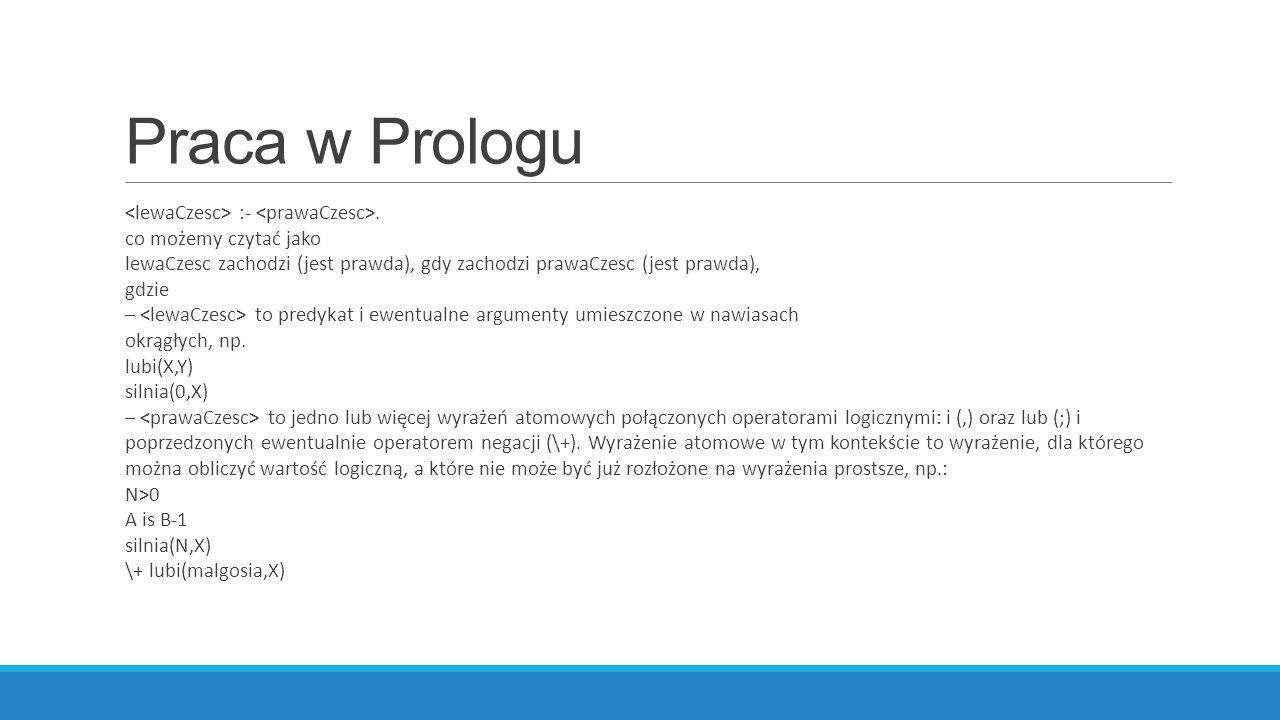 Praca w Prologu :-.