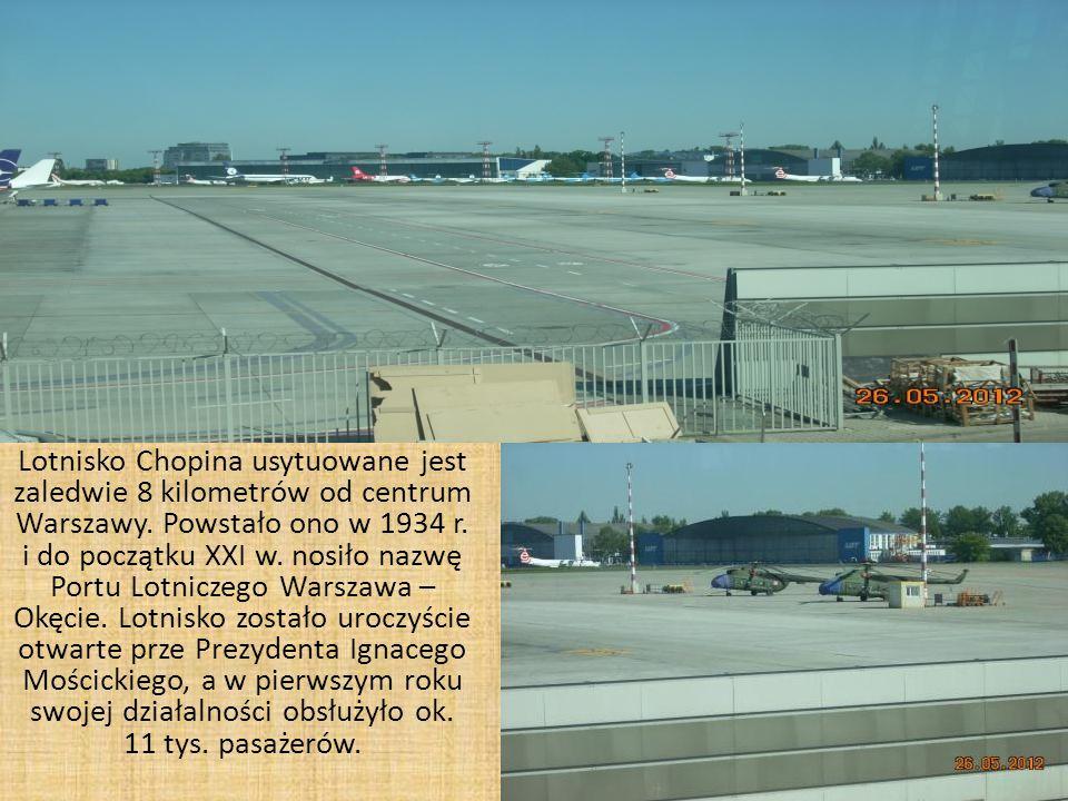 Lotnisko Chopina usytuowane jest zaledwie 8 kilometrów od centrum Warszawy.