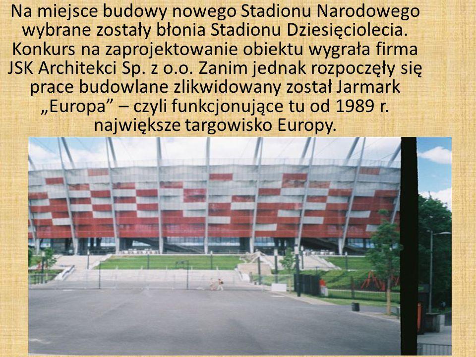 Na miejsce budowy nowego Stadionu Narodowego wybrane zostały błonia Stadionu Dziesięciolecia.