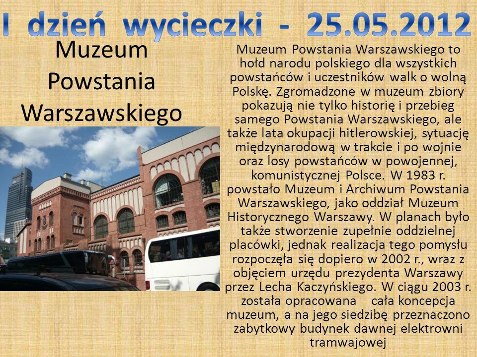 Muzeum Powstania Warszawskiego Muzeum Powstania Warszawskiego to hołd narodu polskiego dla wszystkich powstańców i uczestników walk o wolną Polskę.
